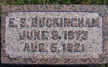 BUCKINGHAM, E. S. - Warren County, Iowa | E. S. BUCKINGHAM