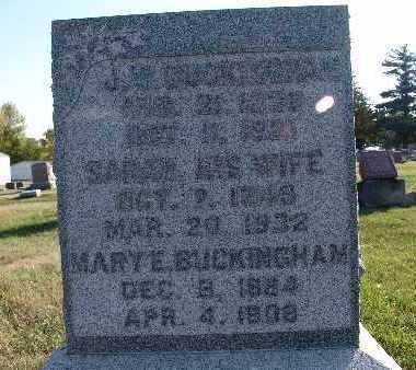 BUCKINGHAM, J. W. - Warren County, Iowa   J. W. BUCKINGHAM
