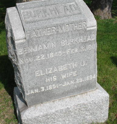 WEIDNER BURKHEAD, ELIZABETH JANE - Warren County, Iowa   ELIZABETH JANE WEIDNER BURKHEAD