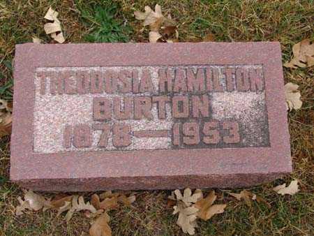 BURTON, THEODOSIA HAMILTON - Warren County, Iowa | THEODOSIA HAMILTON BURTON
