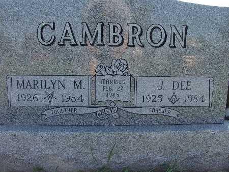 CAMBRON, J. DEE - Warren County, Iowa | J. DEE CAMBRON