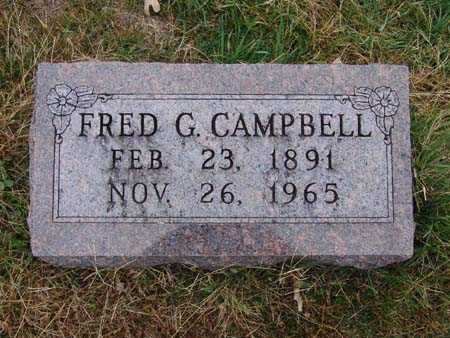 CAMPBELL, FRED G. - Warren County, Iowa   FRED G. CAMPBELL