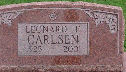 CARLSEN, LEONARD E. - Warren County, Iowa   LEONARD E. CARLSEN