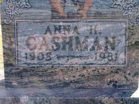 CASHMAN, ANNA H. - Warren County, Iowa   ANNA H. CASHMAN