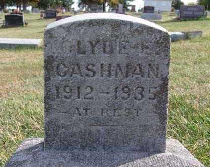CASHMAN, LYDE E. - Warren County, Iowa   LYDE E. CASHMAN