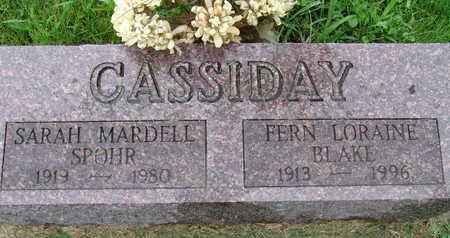CASSIDAY, SARAH MARDELL SPOHR - Warren County, Iowa | SARAH MARDELL SPOHR CASSIDAY