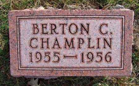 CHAMPLIN, BERTON C. - Warren County, Iowa | BERTON C. CHAMPLIN