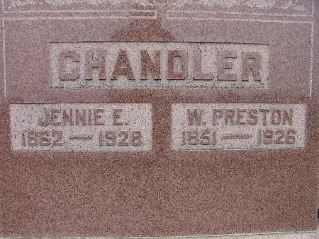 CHANDLER, JENNIE E. - Warren County, Iowa | JENNIE E. CHANDLER