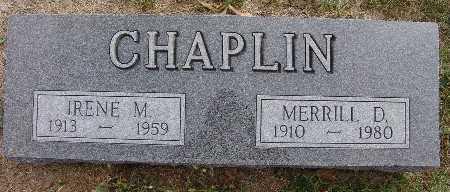 CHAPLIN, MERRILL D. - Warren County, Iowa | MERRILL D. CHAPLIN