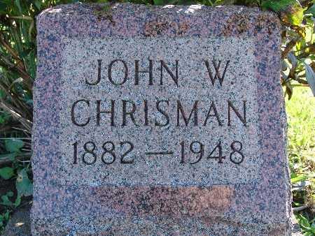 CHRISMAN, JOHN W - Warren County, Iowa | JOHN W CHRISMAN