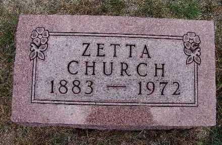 CHURCH, ZETTA - Warren County, Iowa | ZETTA CHURCH