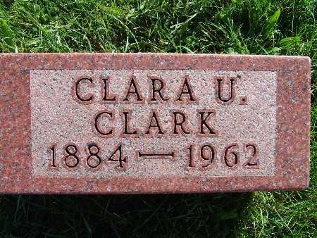 CLARK, CLARA U. - Warren County, Iowa   CLARA U. CLARK