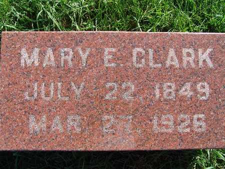 CLARK, MARY E. - Warren County, Iowa | MARY E. CLARK
