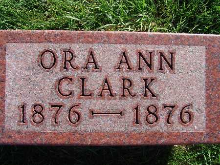 CLARK, ORA ANN - Warren County, Iowa | ORA ANN CLARK