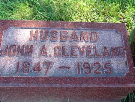 CLEVELAND, JOHN A - Warren County, Iowa   JOHN A CLEVELAND