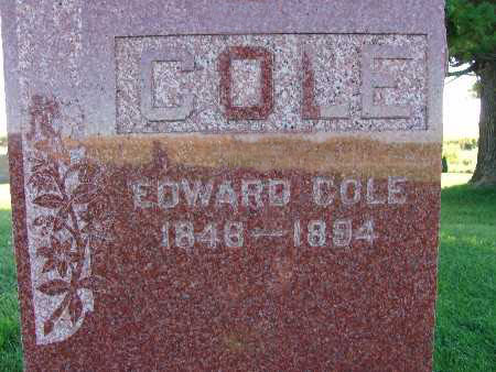 COLE, EDWARD - Warren County, Iowa | EDWARD COLE