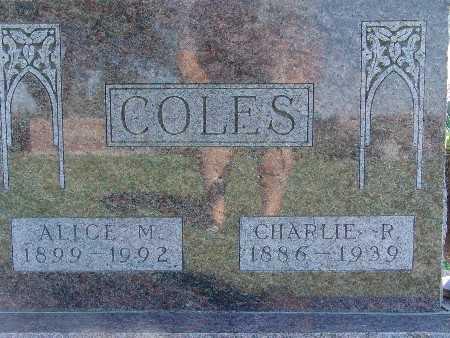 COLES, ALICE M - Warren County, Iowa   ALICE M COLES