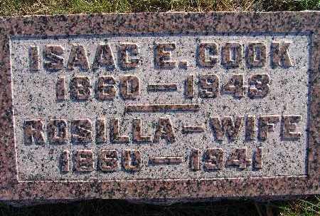 COOK, ROSILLA - Warren County, Iowa | ROSILLA COOK