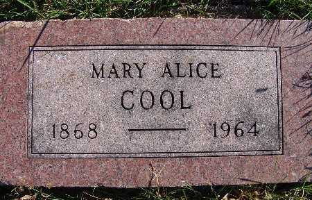 COOL, MARY ALICE - Warren County, Iowa | MARY ALICE COOL