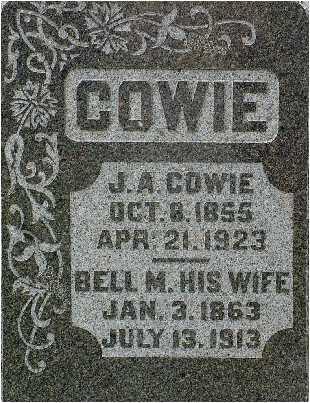 COWIE, JOHN (J.A.) - Warren County, Iowa | JOHN (J.A.) COWIE