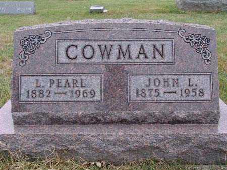 COWMAN, L. PEARL - Warren County, Iowa | L. PEARL COWMAN