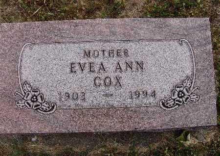 COX, EVEA ANN - Warren County, Iowa | EVEA ANN COX