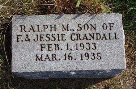 CRANDALL, RALPH M. - Warren County, Iowa   RALPH M. CRANDALL
