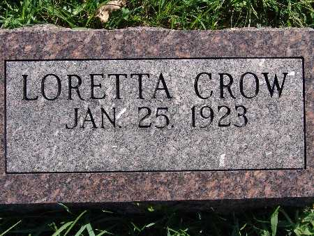 CROW, LORETTA - Warren County, Iowa | LORETTA CROW