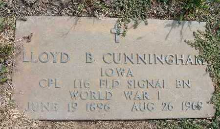 CUNNINGHAM, LLOYD B. - Warren County, Iowa   LLOYD B. CUNNINGHAM