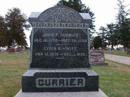 CURRIER, LYDIA A. - Warren County, Iowa   LYDIA A. CURRIER