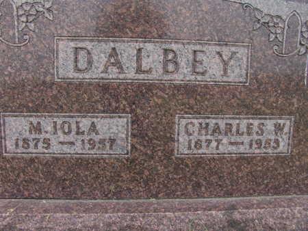 DALBEY, CHARLES W. - Warren County, Iowa   CHARLES W. DALBEY