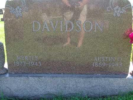 DAVIDSON, MYRTLE - Warren County, Iowa | MYRTLE DAVIDSON