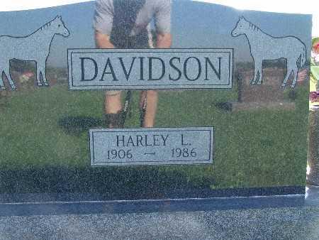 DAVIDSON, HARLEY L - Warren County, Iowa   HARLEY L DAVIDSON
