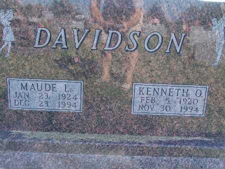 DAVIDSON, MAUDE L. - Warren County, Iowa | MAUDE L. DAVIDSON