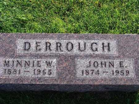 DERROUGH, MINNIE W. - Warren County, Iowa   MINNIE W. DERROUGH