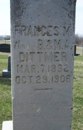 DITTMER, FRANCES M. - Warren County, Iowa | FRANCES M. DITTMER
