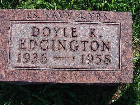 EDGINGTON, DOYLE K - Warren County, Iowa | DOYLE K EDGINGTON