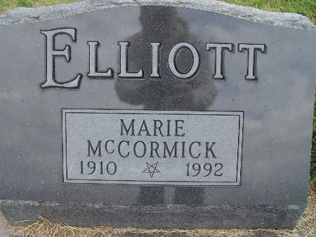 ELLIOTT, MARIE MCCORMICK - Warren County, Iowa | MARIE MCCORMICK ELLIOTT