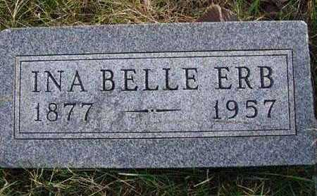 ERB, INA BELLE - Warren County, Iowa | INA BELLE ERB