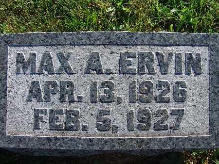 ERVIN, MAX A. - Warren County, Iowa | MAX A. ERVIN