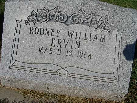 ERVIN, RODNEY WILLIAM - Warren County, Iowa   RODNEY WILLIAM ERVIN
