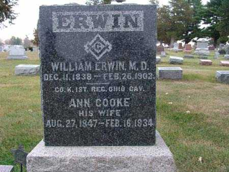 ERWIN, ANN COOKE - Warren County, Iowa | ANN COOKE ERWIN