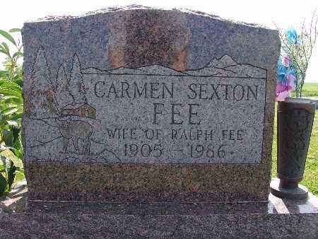 SEXTON FEE, CARMEN - Warren County, Iowa | CARMEN SEXTON FEE