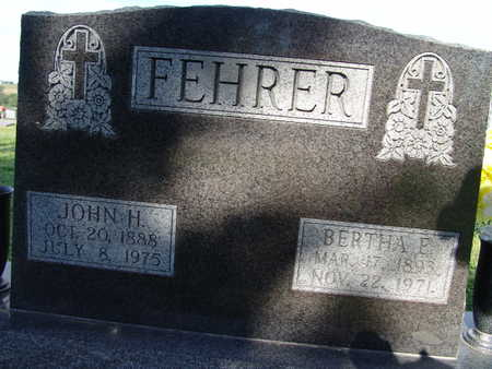 FEHRER, BERTHA E. - Warren County, Iowa | BERTHA E. FEHRER