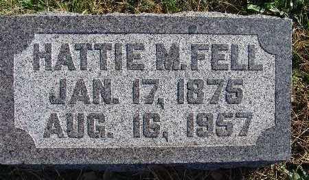 FELL, HATTIE M. - Warren County, Iowa   HATTIE M. FELL
