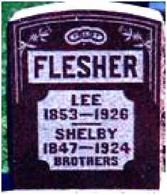 FLESHER, URIAH SHELBY - Warren County, Iowa   URIAH SHELBY FLESHER