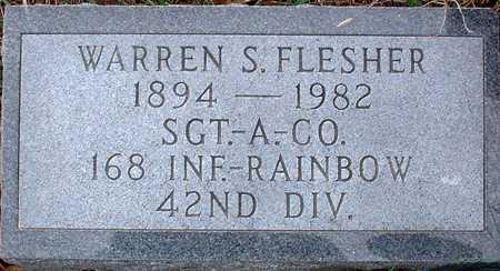FLESHER, WARREN S. - Warren County, Iowa   WARREN S. FLESHER