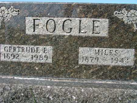 FOGLE, GERTRUDE E - Warren County, Iowa | GERTRUDE E FOGLE