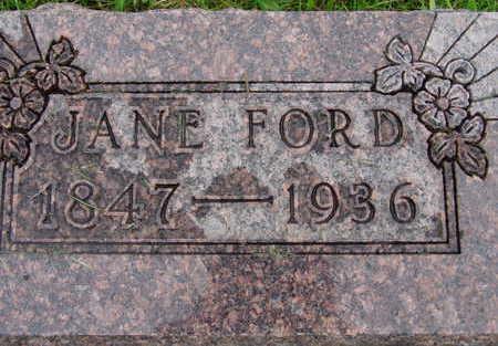 FORD, JANE - Warren County, Iowa | JANE FORD