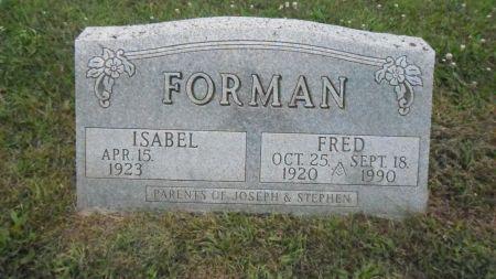 FORMAN, FRED - Warren County, Iowa   FRED FORMAN
